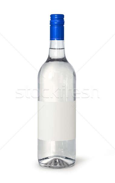 настроение бутылку полный вино пить силуэта Сток-фото © Anterovium