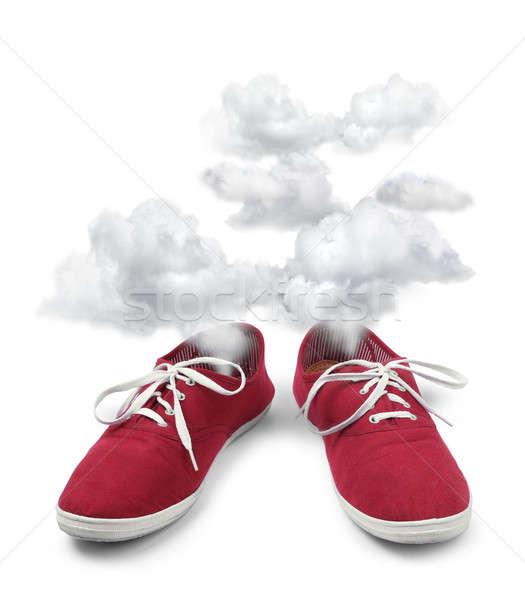Tired shoes fuming Stock photo © Anterovium