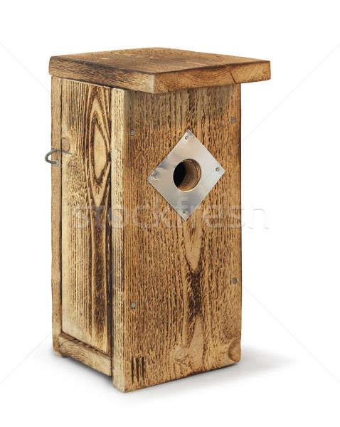 Wooden birdhouse isolated Stock photo © Anterovium