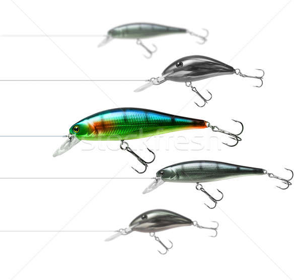 Attractive fishing lure Stock photo © Anterovium