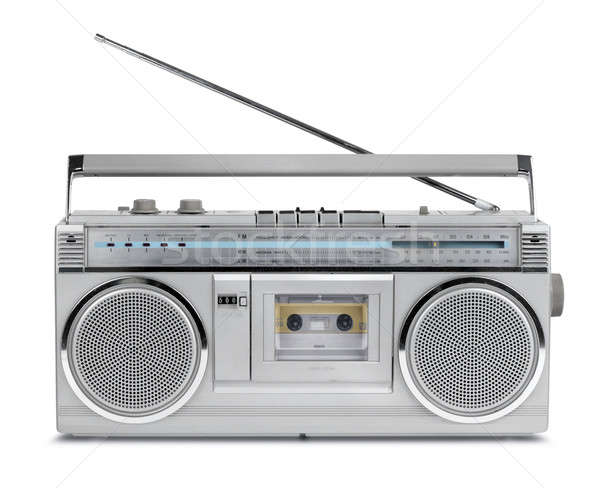 Jaren tachtig vintage radio cassette speler stereo Stockfoto © Anterovium