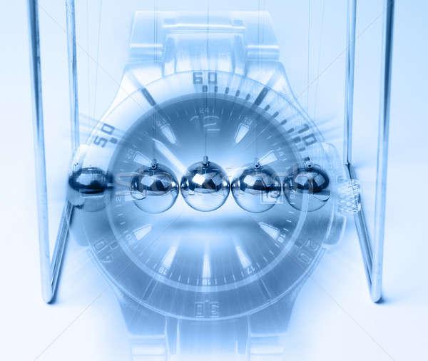 Zaman sonsuzluk eller saat top hızlandırmak Stok fotoğraf © Anterovium