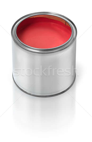 Red paint tin can Stock photo © Anterovium