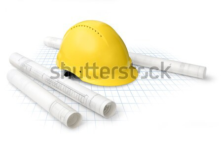 Construction plan outils dessins blanche Photo stock © Anterovium