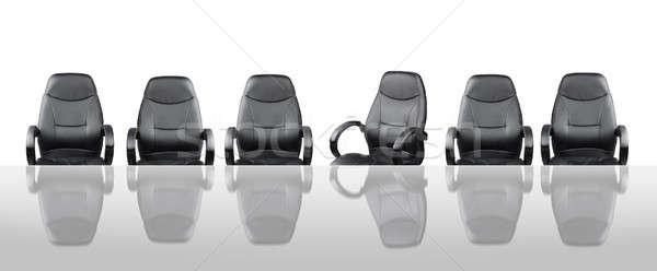 Spotkanie pokładzie spotkanie biznesowe krzesła za tabeli Zdjęcia stock © Anterovium