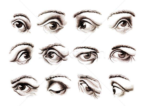 Humanismo olho posições velho Foto stock © Anterovium
