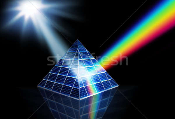 призма солнечный свет энергии Сток-фото © Anterovium