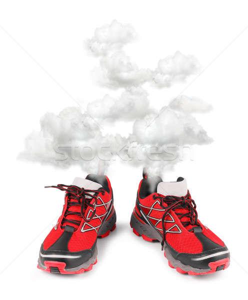 Exhausted sport running shoes Stock photo © Anterovium