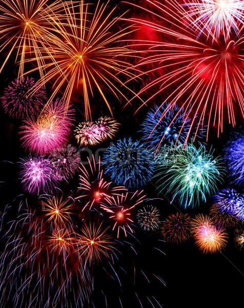 Big fireworks display festive Stock photo © Anterovium