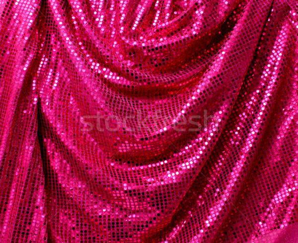 Katlanmış disko parıltı tuval pembe Stok fotoğraf © Anterovium