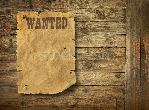 Wood background Wild West style Stock photo © Anterovium