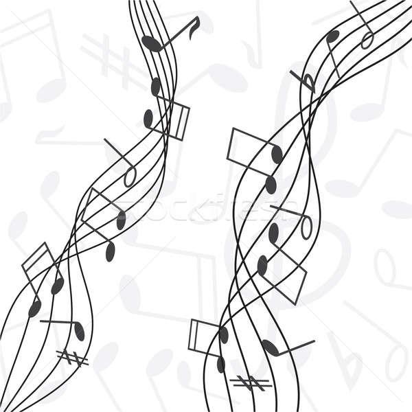 Notas musicales personal resumen diseno signo sonido Foto stock © antkevyv