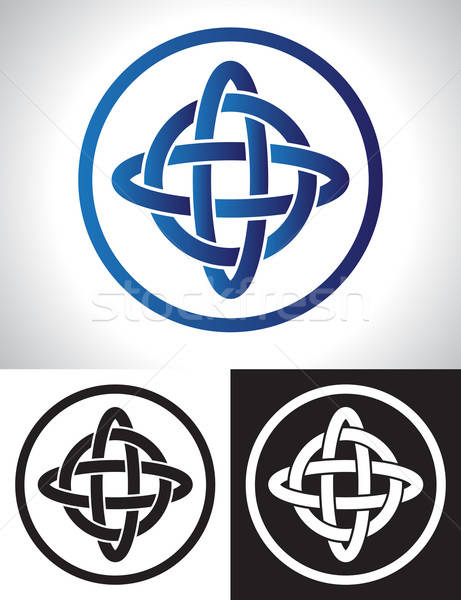 Celtic knoop ontwerp Ierse oude decoratie Stockfoto © antkevyv