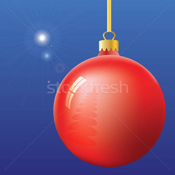 Christmas Eve First Star and ball Stock photo © antkevyv