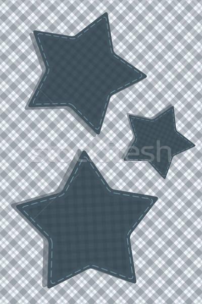 Tartan stylized Stars Stock photo © antkevyv