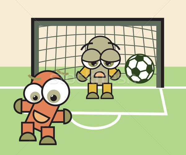 Stok fotoğraf: şanslı · üzücü · kaleci · futbol · futbol · oyun
