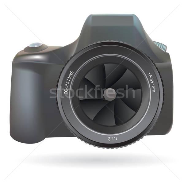 Dslr фото камеры изолированный белый технологий Сток-фото © antkevyv