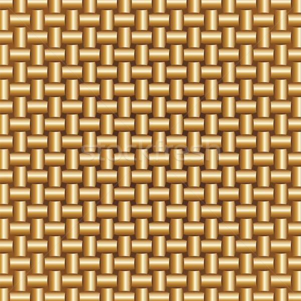 Golden Braided Pattern Stock photo © antkevyv