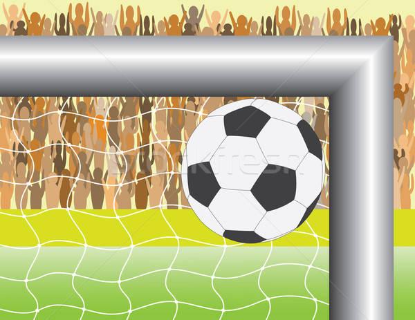 Doel bal voetbal voetbal veld Stockfoto © antkevyv