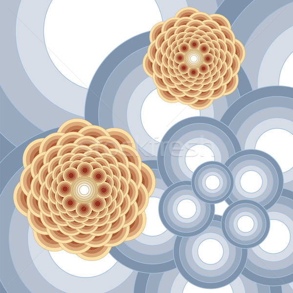 Abstract bloem ontwerp kaart patroon fantasie Stockfoto © antkevyv