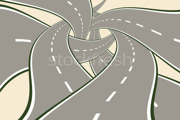Stockfoto: Wegen · moderne · keuze · weg · stad · straat