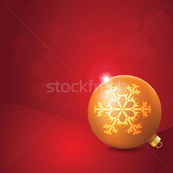 Christmas bal sneeuwvlok decoratie star Stockfoto © antkevyv