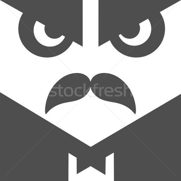 Gebruiker avatar gentleman profiel foto boos Stockfoto © antkevyv