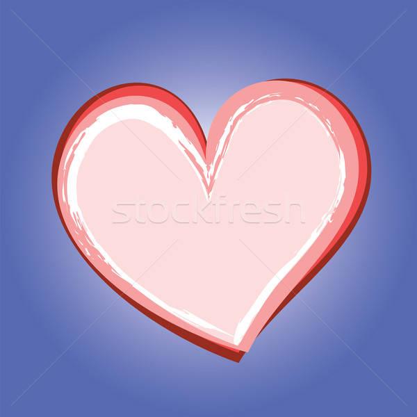 Stockfoto: Abstract · hart · symbool · Blauw · liefde · ontwerp