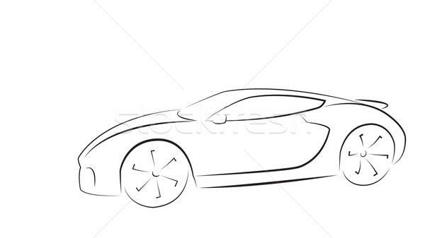 Sport auto silhouet ontwerp technologie race Stockfoto © antkevyv