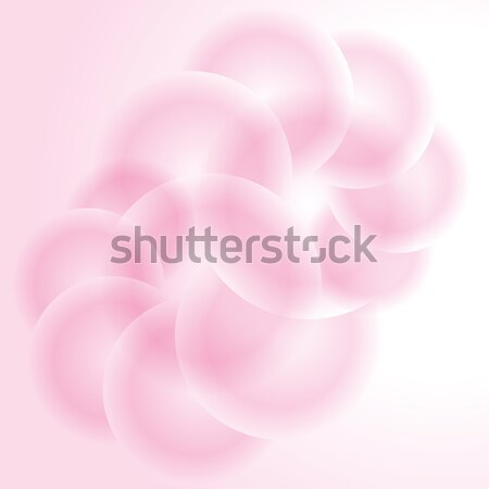 Licht roze abstract vector bubble schijf Stockfoto © antkevyv