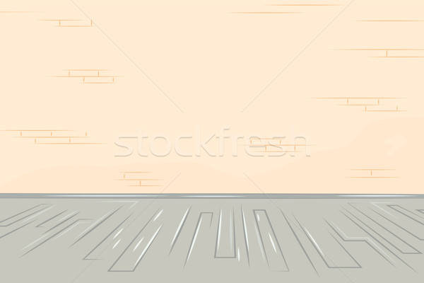 Oude muur illustratie vloer Stockfoto © antkevyv