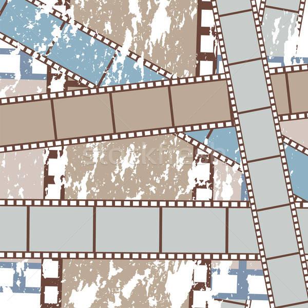 Grunge films film strips abstract illustratie Stockfoto © antkevyv