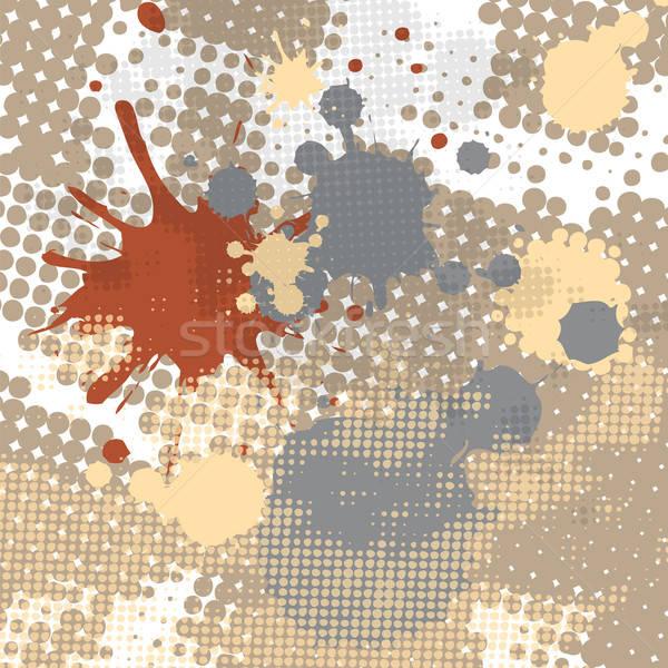 Stockfoto: Halftoon · splash · grunge · abstract · plek · druppels
