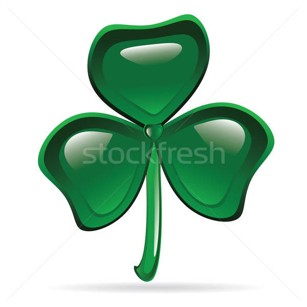 Abstract glanzend Shamrock St Patrick's Day illustratie ontwerp Stockfoto © antkevyv