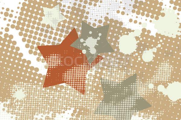 Star grunge splash halftoon abstract ontwerp Stockfoto © antkevyv