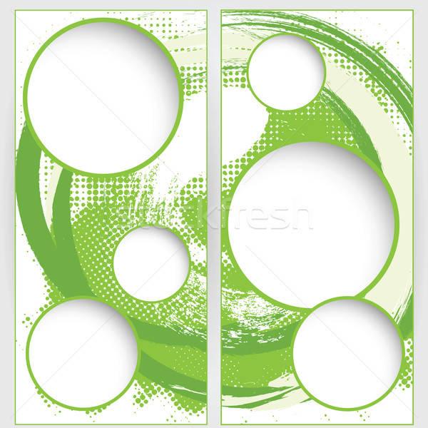 Stockfoto: Web · sjabloon · groene · grunge · halftoon · achtergronden