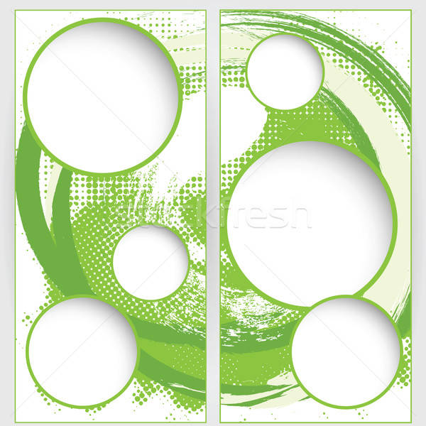 Web sjabloon groene grunge halftoon achtergronden Stockfoto © antkevyv