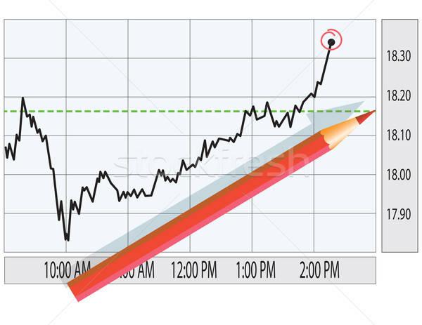 Analyse beurs grafiek financieren illustratie business Stockfoto © antkevyv