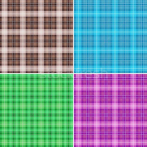 Weefsel patronen ingesteld mode kleur behang Stockfoto © antkevyv