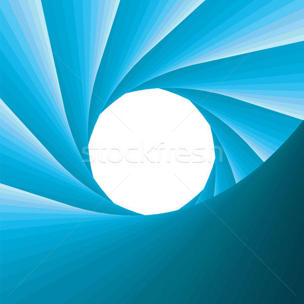 abstract blue aperture Stock photo © antkevyv