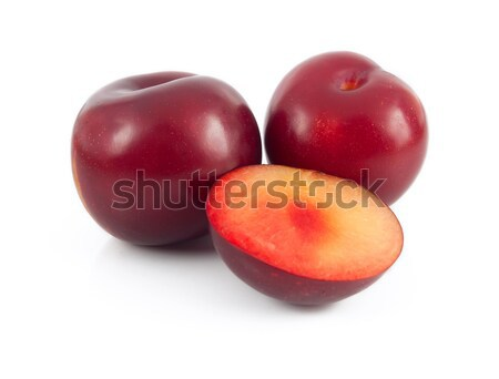 plums on white background Stock photo © antkevyv