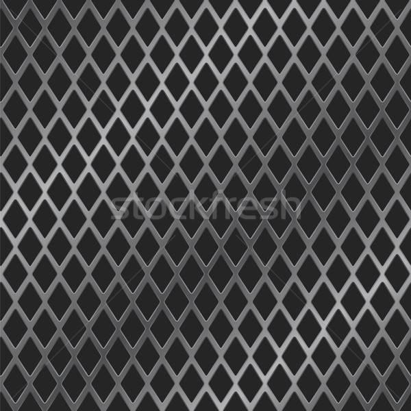 Metaal grill vector afbeelding achtergrond spreker Stockfoto © antkevyv