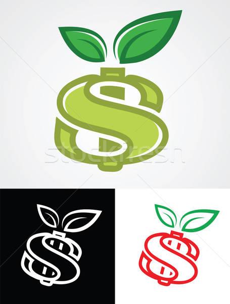 Appel dollarteken symbool financieren business voedsel Stockfoto © antkevyv