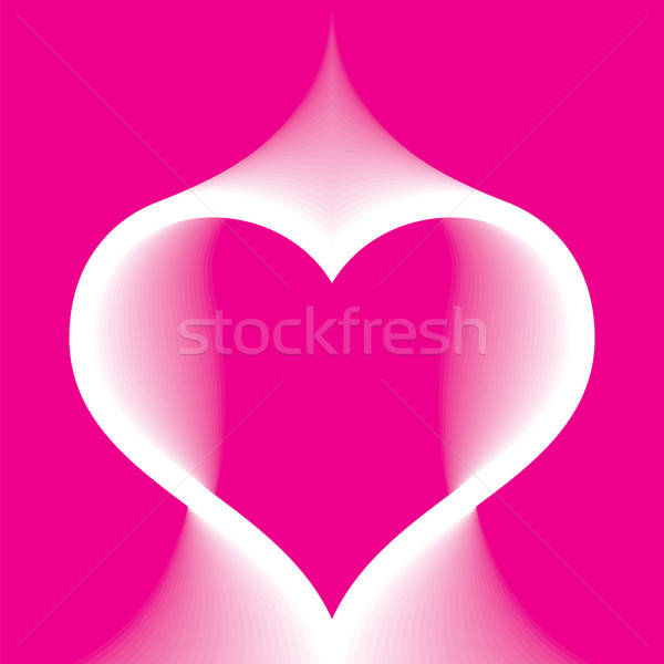 Abstract roze hart kunst passie decoratie Stockfoto © antkevyv