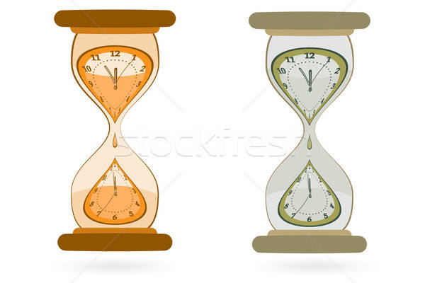 Hourglass with Wall Clocks Stock photo © antkevyv