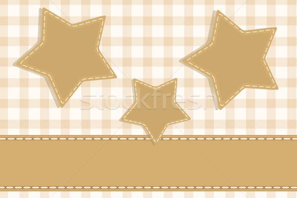 étoiles vintage scrapbook rétro stylisé mariage Photo stock © antkevyv