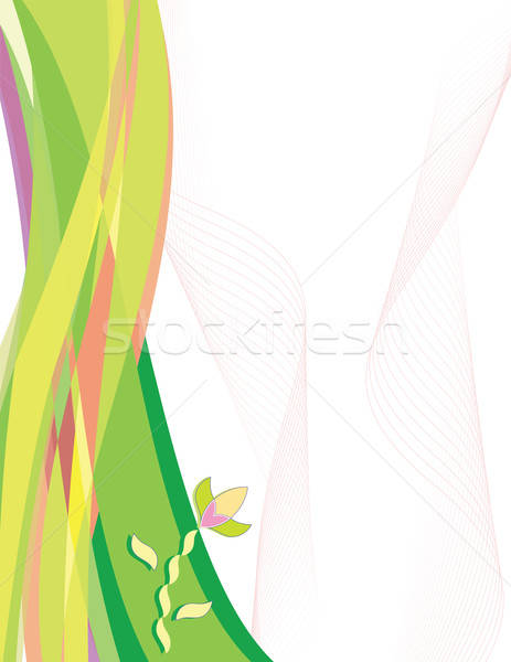 Abstract bloem golf golven plaats tekst Stockfoto © antkevyv
