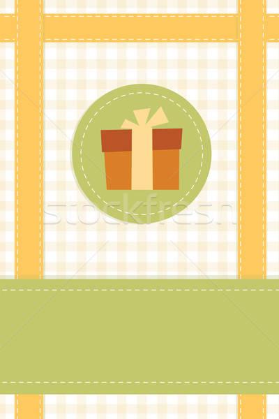 Gift card sjabloon viering aanwezig papier bruiloft Stockfoto © antkevyv