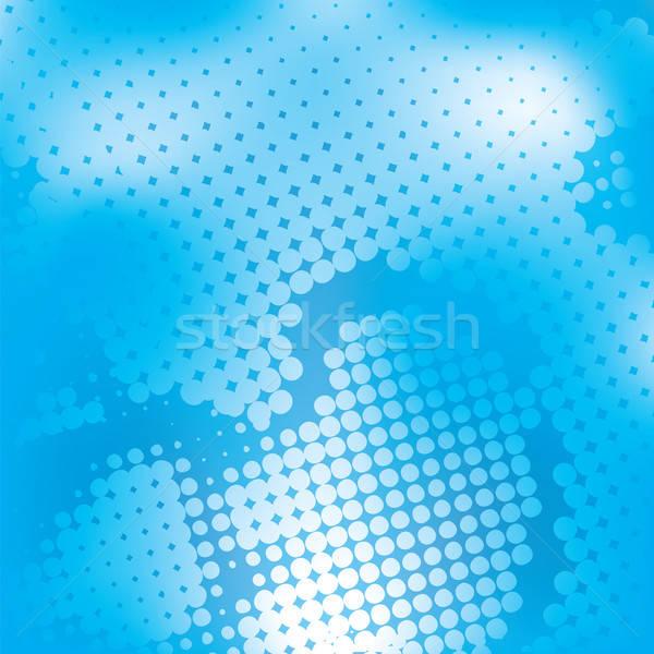 Halftoon Blauw vector abstract achtergronden Stockfoto © antkevyv