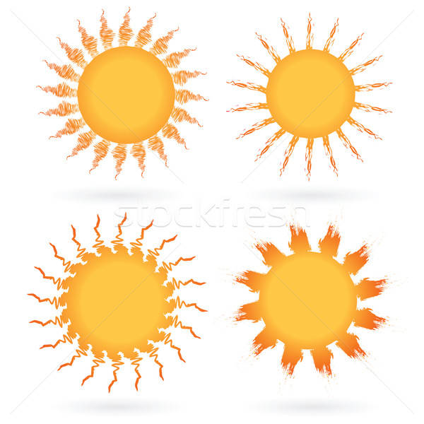 Set of abstract suns Stock photo © antkevyv